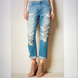 Current Elliott Jeans The Fling Tattered Destroyed
